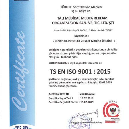 TS EN ISO 9001 : 2015